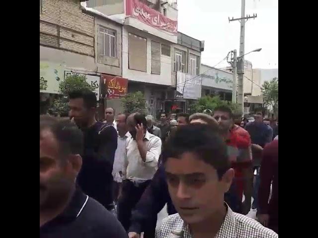 Iran, 20 avril, la ville de Kazeroun continue de manifester