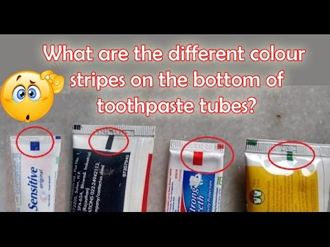 how does toothpaste come out in stripes