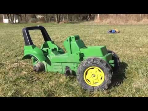 Tractor found in mud video for kids with Rolly Toys  John Deere