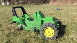 Tractor Found In Mud  Video For Kids With Rolly Toys - John Deere