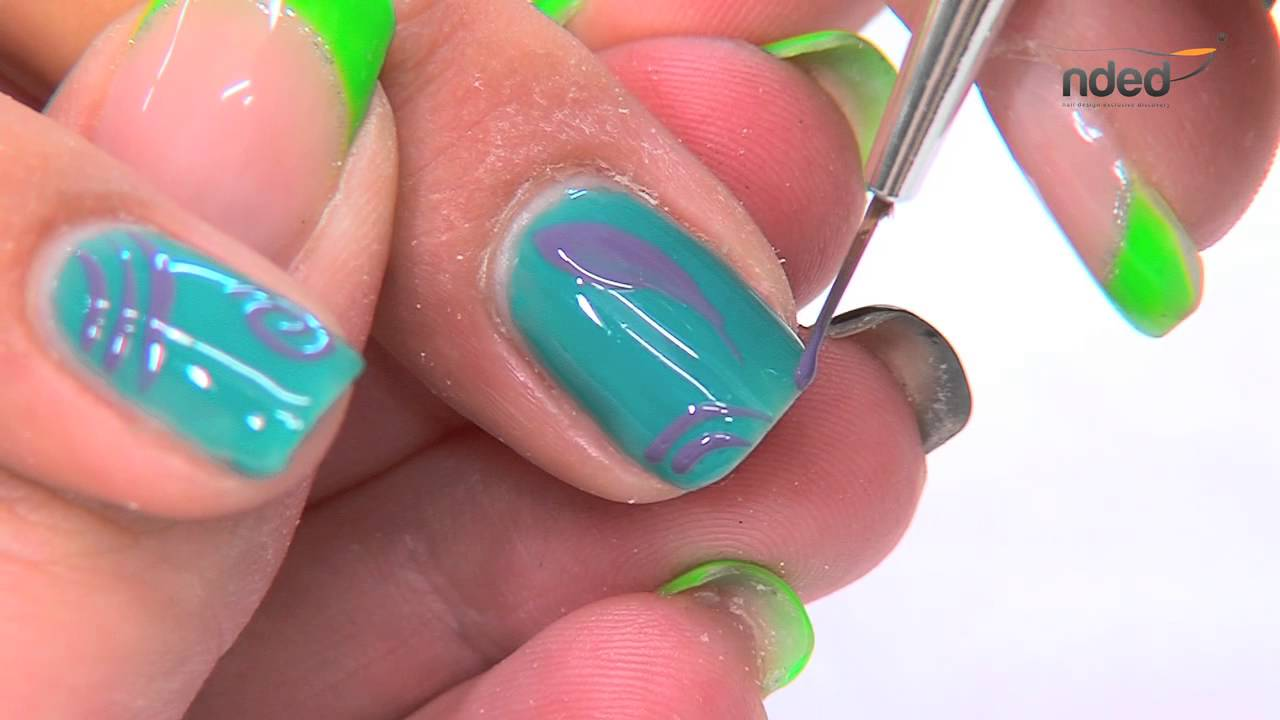 nail art with gel polish