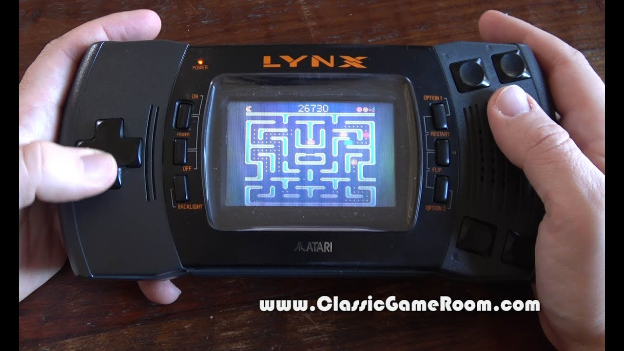 Classic Game Room - MS  PAC-MAN review for Atari Lynx