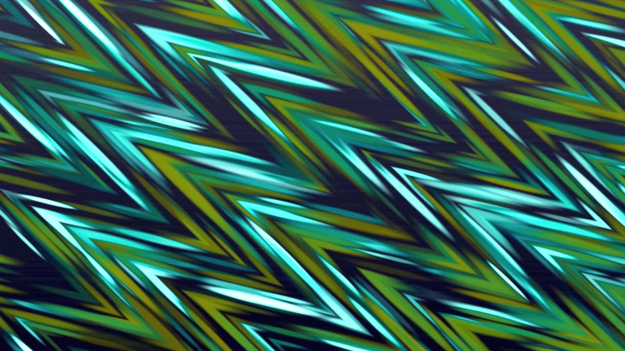 Background Loop for Videos - Blue & Green Zig-Zag ...