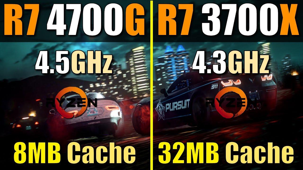 Ryzen 7 4700G vs. Ryzen 7 3700X | Does Cache Size Matter?