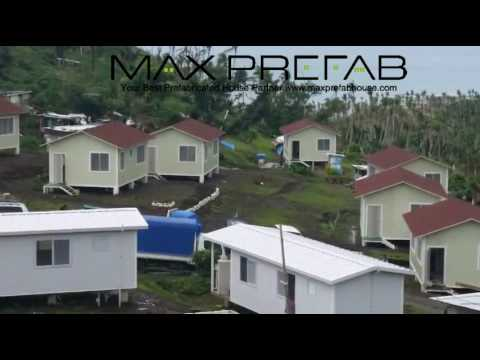 Fiji Prefabricated Farm House Village after Typhoon Winston