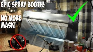 """24"""" Mini Plus Peace Keeper Home Hobby Spray Booth - Unboxing & Demo"""
