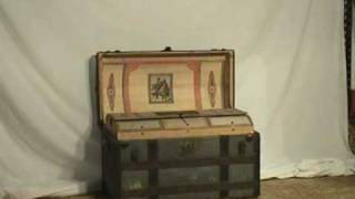 Dome Top Steamer Trunk With Pullout Shelf  At Old Wood Market In Ohio