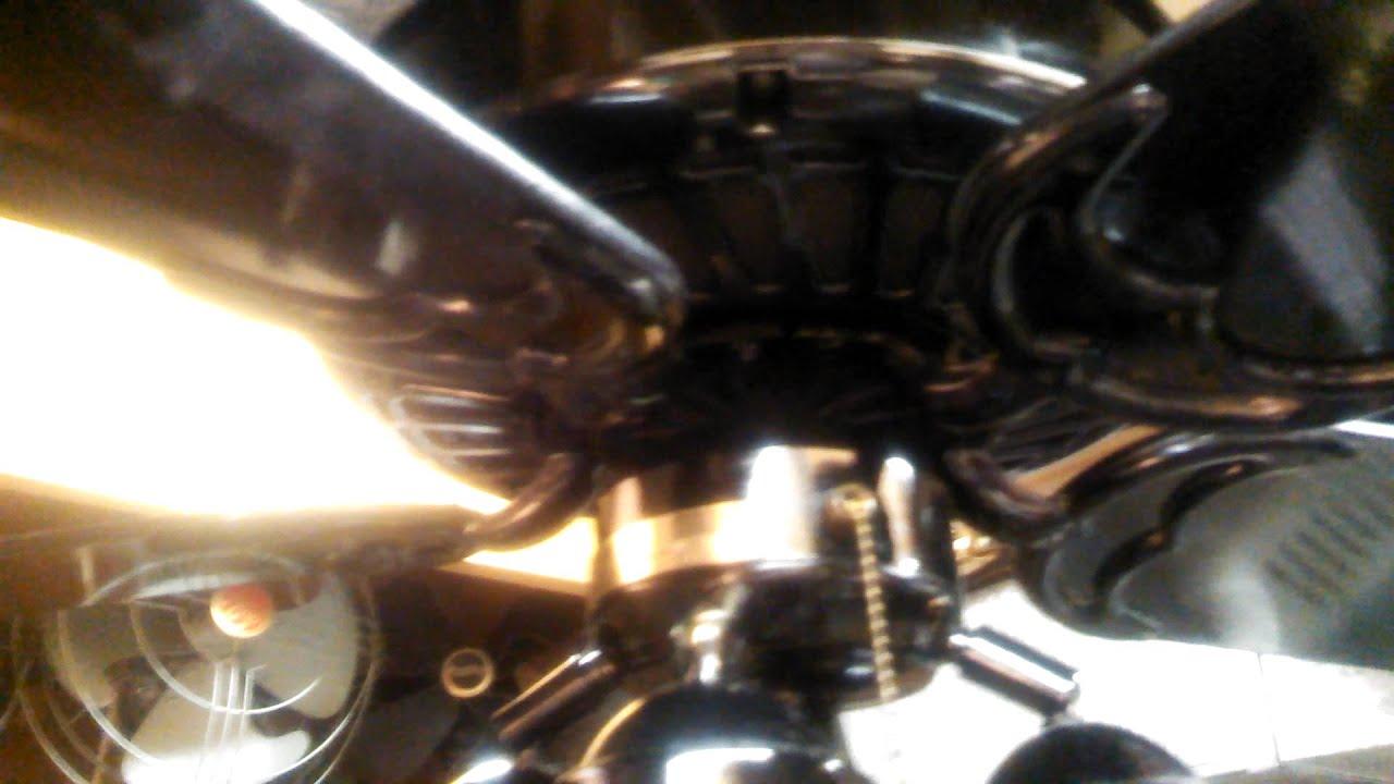 Casablanca Delta Ii Ceiling Fan Gloss Black With