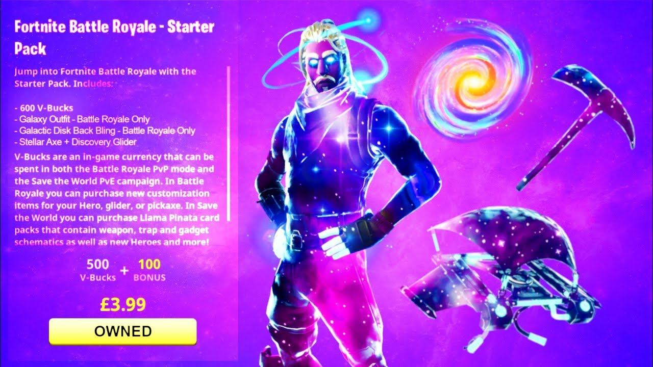 New galaxy skin bundle in fortnite free galaxy skin set galactic disk discovery stellar - Fortnite galaxy skin free ...