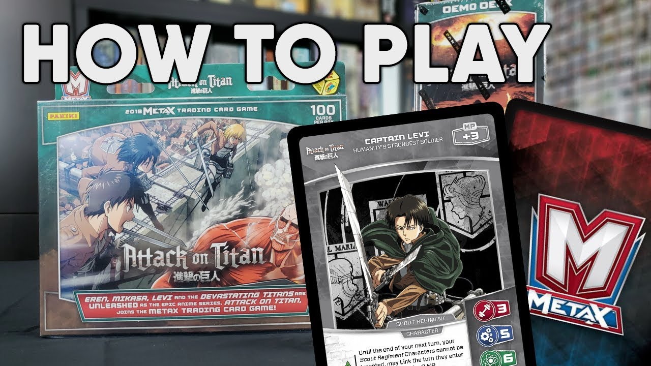 How To Play Metax Tcg Attack On Titan Starter Decks Youtube