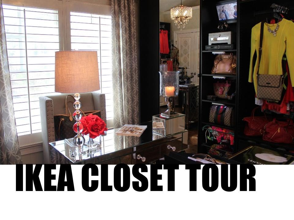 ikea closet room tour 2015 youtube. Black Bedroom Furniture Sets. Home Design Ideas