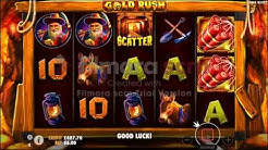 Gold Rush Slots, featuring free spins, big wins and high stakes.