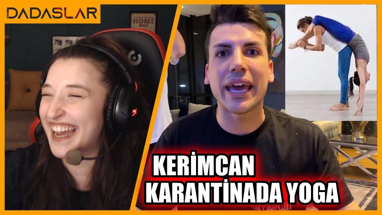 Pqueen - Kerimcan Durmaz'ın KARANTİNADA YOGA Vlogunu İzliyor #18