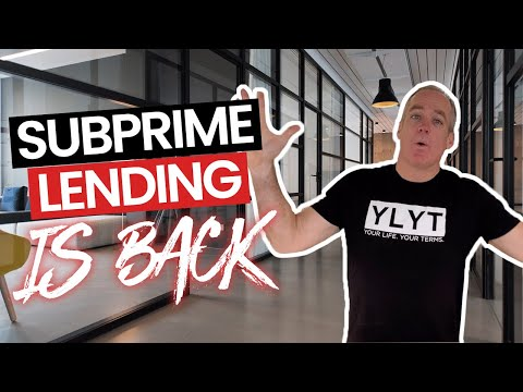 Subprime Lending Is Back In The U.S And Rebranded!