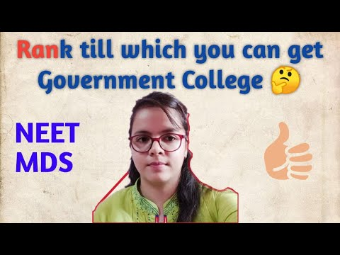 Till which rank you can get government college ( NEET-MDS) ?||Last year rank analysis NEETMDS 2020