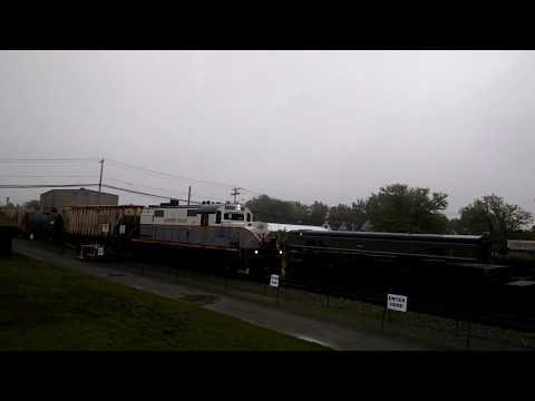 Falls Road Railroad Passing Medina Railroad Museum 6-6-17