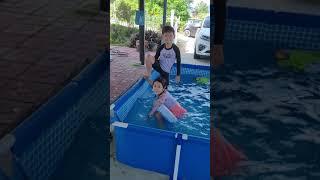 수영장 1탄!고모내 집에서 수영장 설치 했어요!(물총놀…