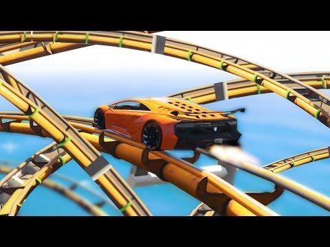 CAR ROLLER COASTER! (GTA 5 Funny Moments)