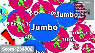 Agar.io 234,906 - LEGENDARY SOLO AGARIO GAMEPLAY (World Record)