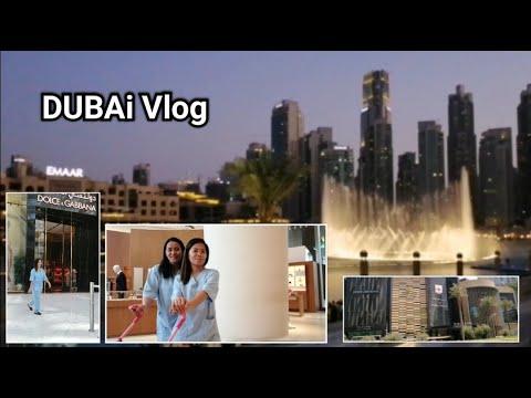 DUBAI MALL + DANCING FOUNTAIN    MADZVLOG 💛