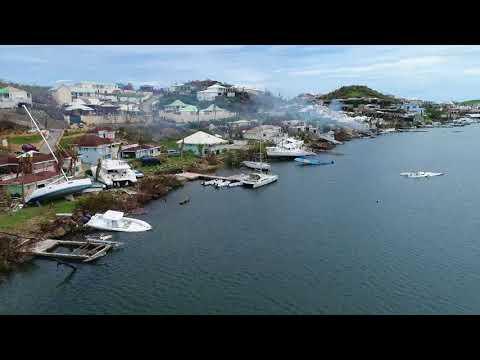 Oyster Pond  after Hurricane Irma: St Maarten, St Martin