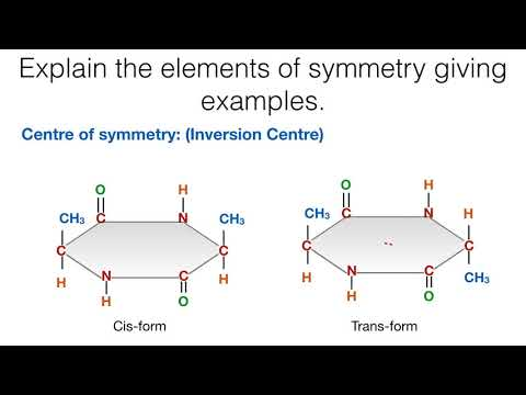 Explain the elements of symmetry giving examples   Stereochemistry   Organic Chemistry