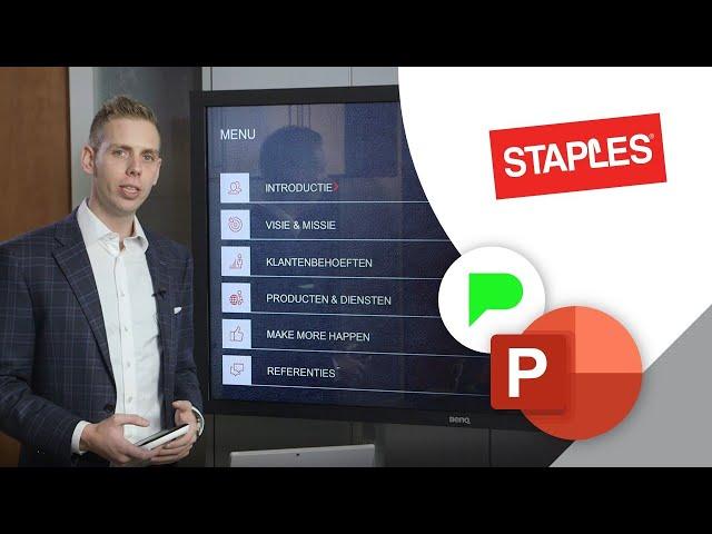 Interactieve bedrijfspresentatie Staples | Portfolio | PPT Solutions