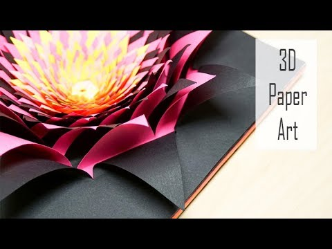 3D Papercraft Art Tutorial How To Make A Colourful Paper Flower
