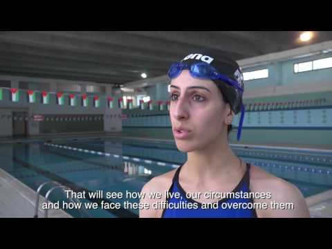 Palestinian swimmer overcomes Israeli restrictions to prepare for Rio Olympics