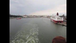 Паром отплывает из Хельсинки. Медитативное видео. The passage-boat Silja Line. Meditative video.