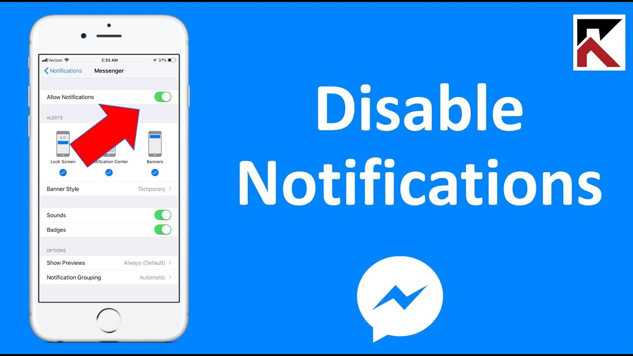 How To Turn Off Facebook Messenger Notifications - YouTube