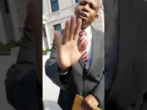 Ethiopian confronts South African  embassy workers in DC