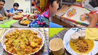 Simple meals on a Weekend | Creamy Chicken with Veg rice | How to make Kerala Puttu flour from rice