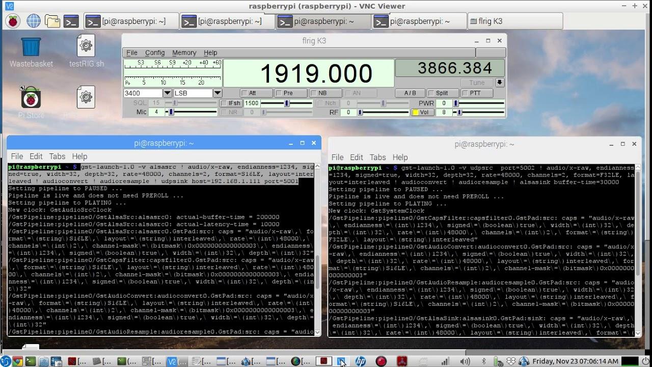 WIRELESS Remote Rig audio over ip for HAM RADIO OP's - using Gstreamer & a  Raspberry PI - LIVE demo
