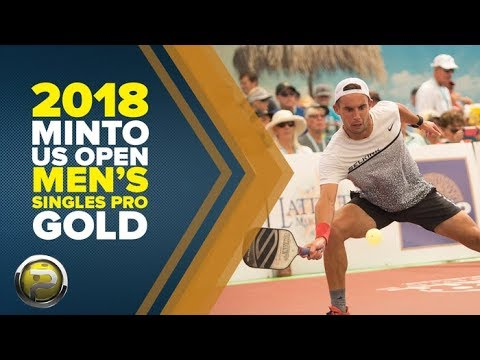 Pro Men's Singles Gold Medal Match from the Minto US Open Pickleball Championships 2018