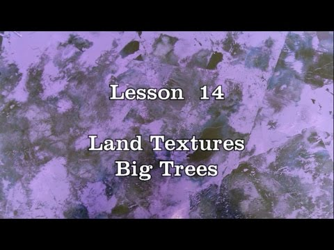 Lesson 14: Land Texture, Big Trees - Spray Paint Art workshop by DATSAS