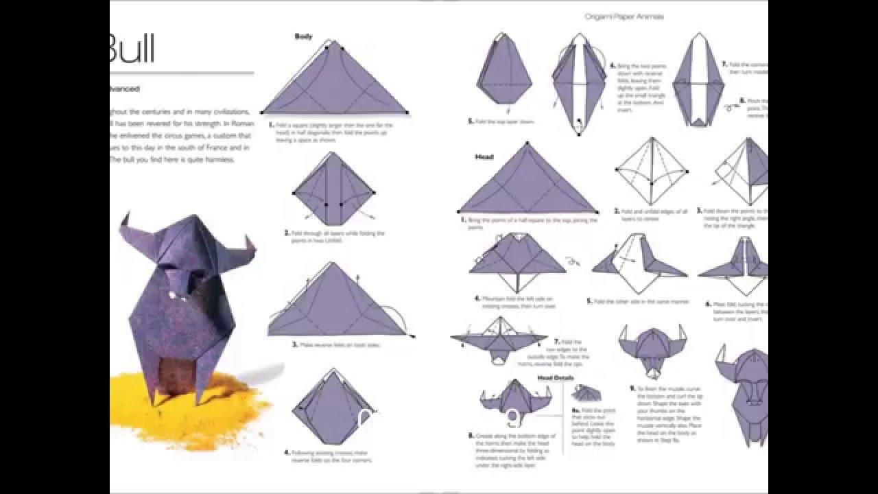 how to make a origami bull youtube