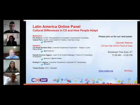 #CXDay 2016  Latin America Panel - Cultural Differences In CX and How People Adapt