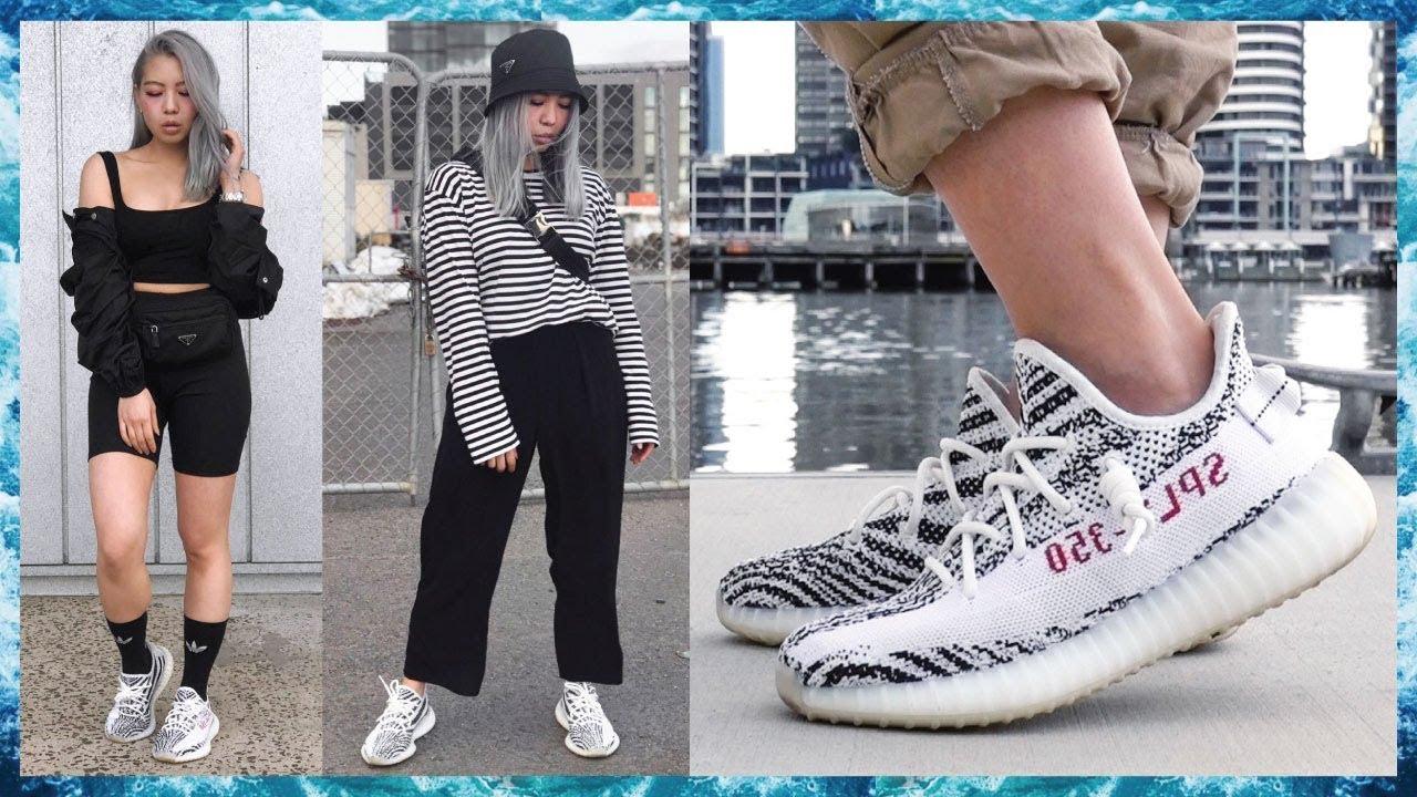 Yeezy Boost 350 V2 Zebra Restock Lookbook Lacing Styles 2018
