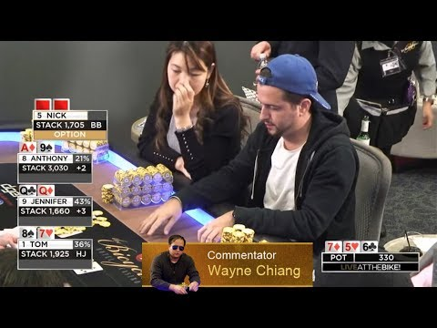 ♥♦♠♣Wayne Chiang Commentates $20/$40 Limit Holdem On Live At The Bike