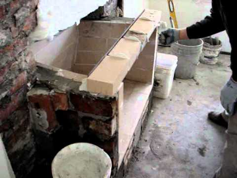 fire brick and angle piece installation (part two) - YouTube