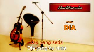 Qody - Dia ( Karaoke Versi Akustik )