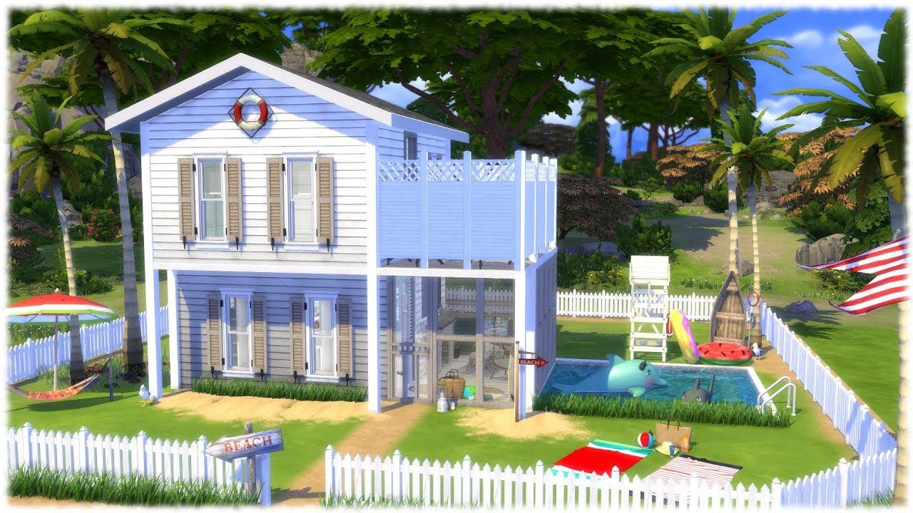 The Sims 4 Speed Build Tiny Beach House Youtube