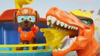 Atak Dino | Psi Patrol & Dino Trux | Bajki dla dzieci