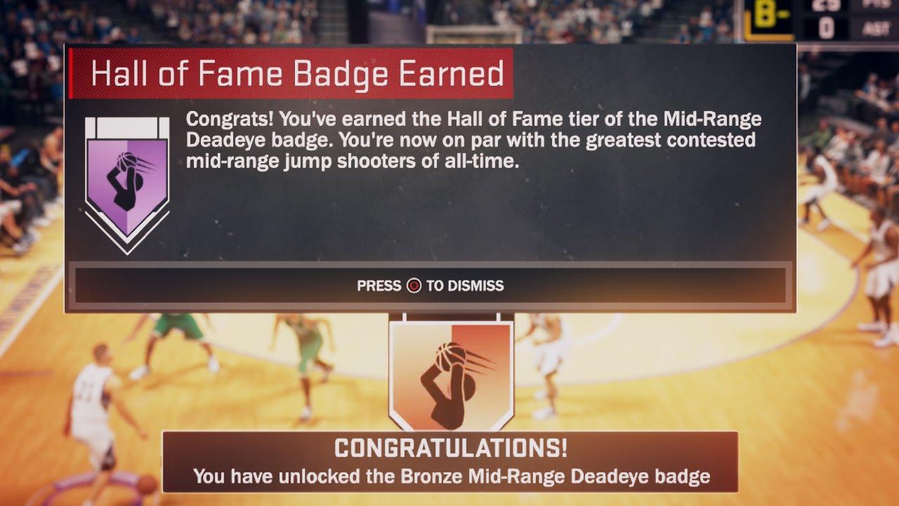Nba 2k17  How To Get Hall Of Fame Midrange Deadeye!! Fastest Way!
