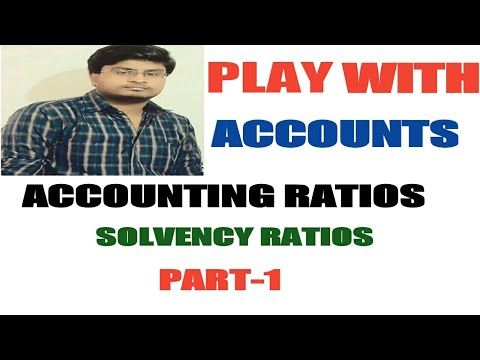 55# Accounting Ratios-4 (Solvency Ratios)....Class 12th