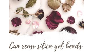 Can you reuse SILICA gel beads after drying Flowers?