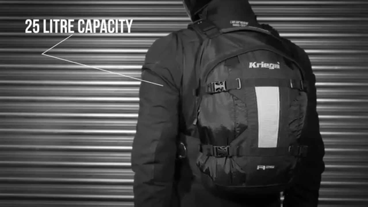 2f79bd9870b Kriega R25 Motorcycle Backpack - YouTube