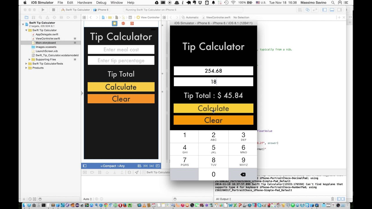 Swift tip calculator demo