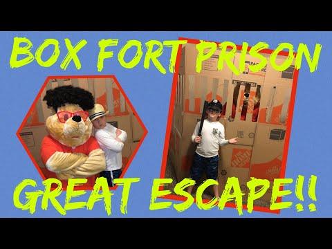 Box fort prison escape 2! box fort challenge.